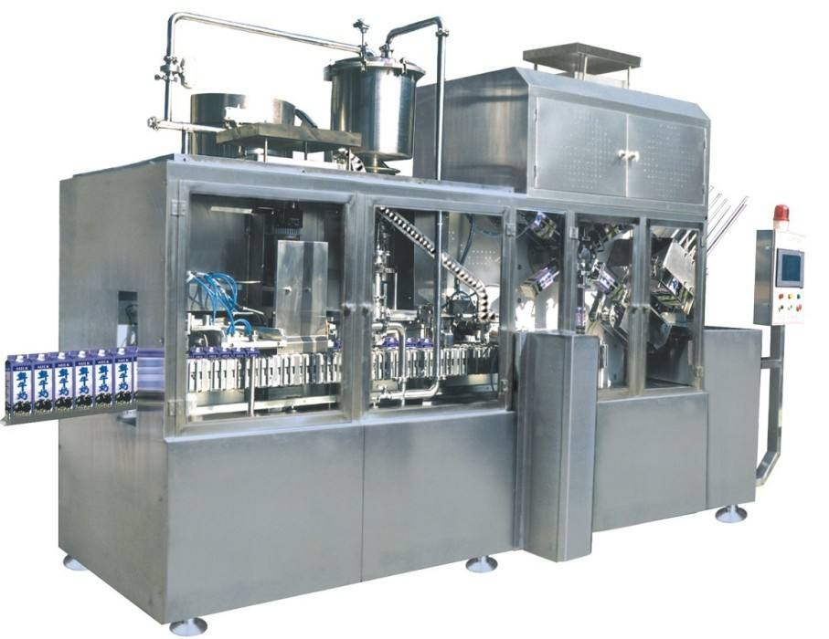 Aseptic filling machine for carton milk